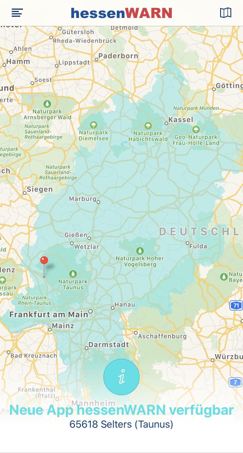 "neue App ""hessenWARN"" verfügbar"